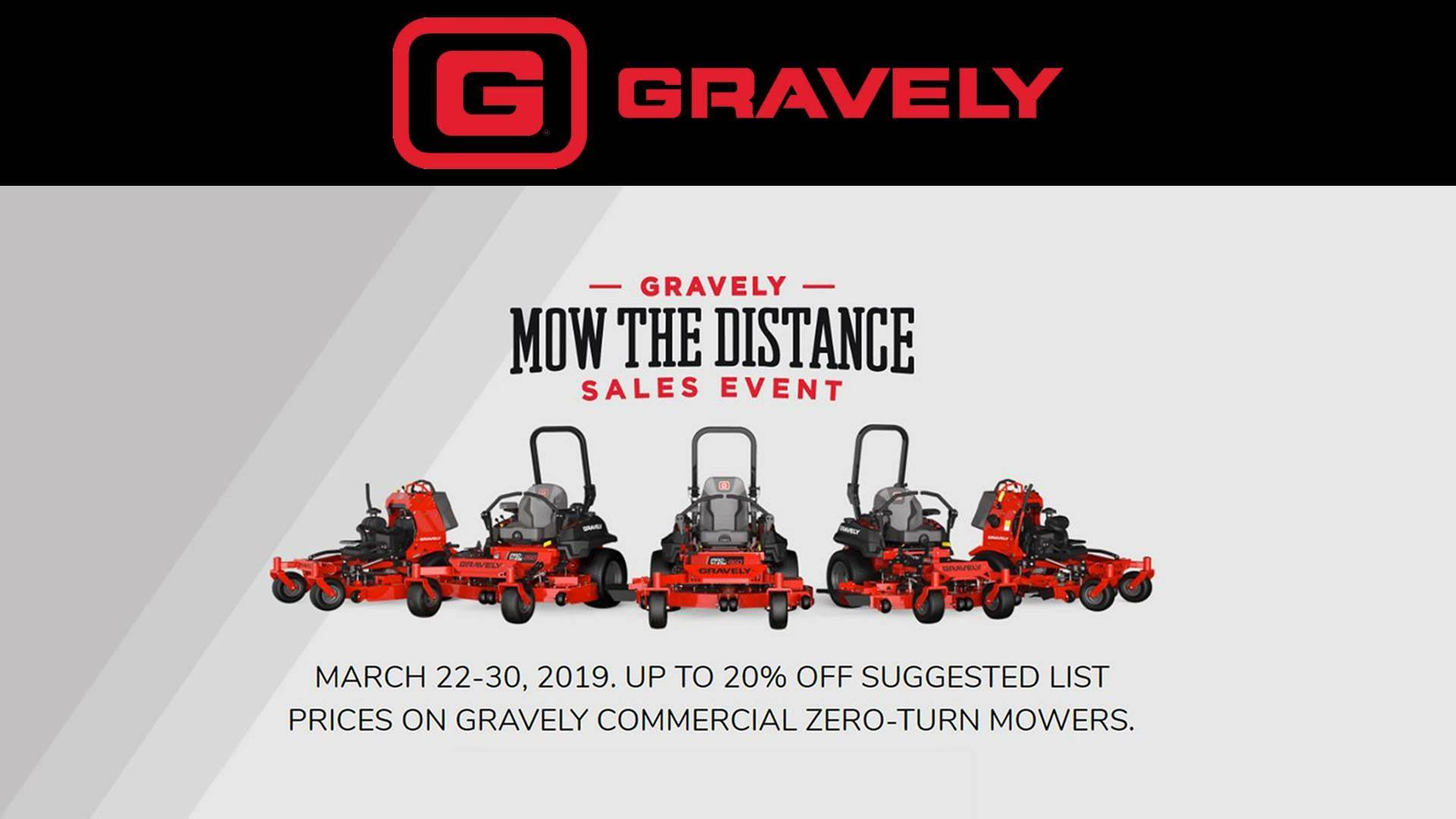 Gravely - Mow the Distance Sales Event